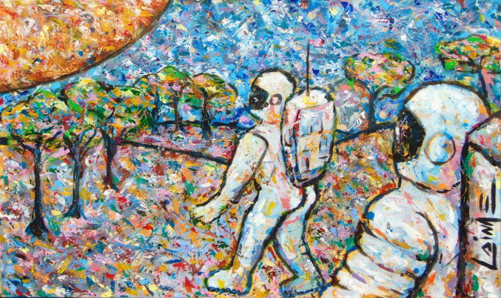 astronaut painting the pilgrim