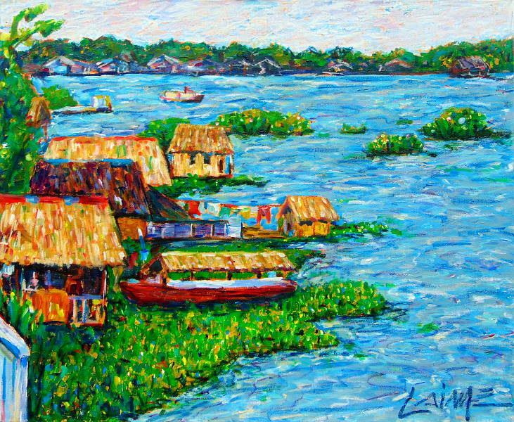 Amazonas river painting