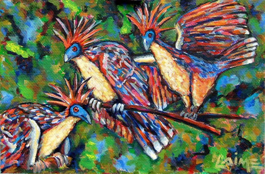amazonian birds painting