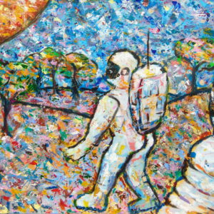 astronaut painting the pilgrim
