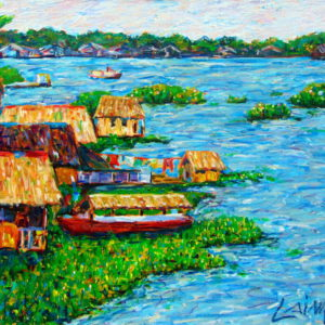 Amazonas river painting