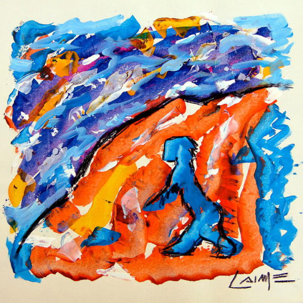 climber painting on paper