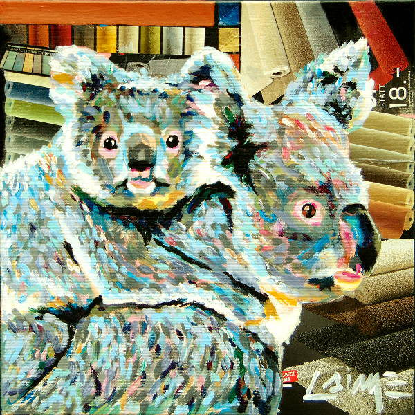 koala collage painting