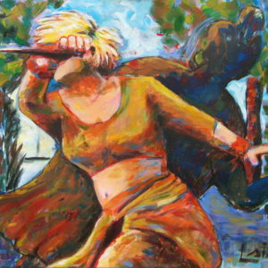 warrior woman painting