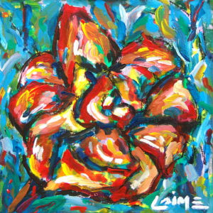 flower expressionist painting
