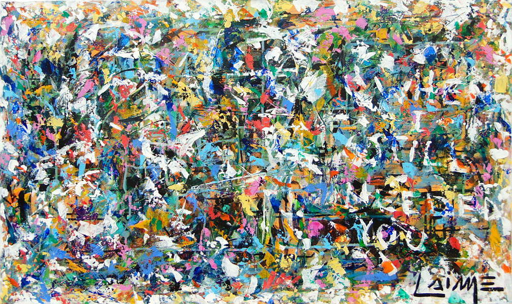 abstract expressionist multicolor painting