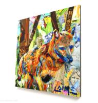 mini brown fox print 10x10cm
