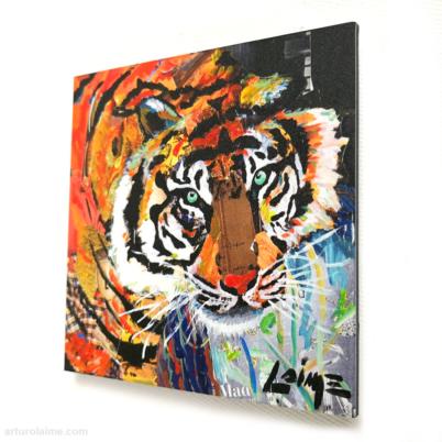 Mini tiger artprint 10x10cm