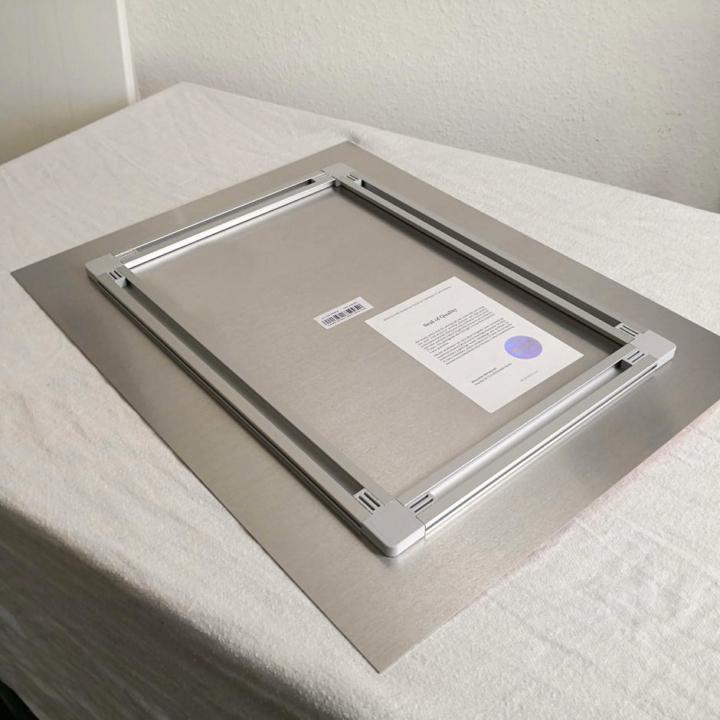 metal print back rectangle clean