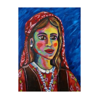 Kurdish girl original painting