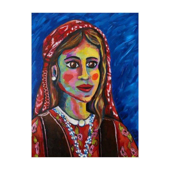 Kurdish girl original painting