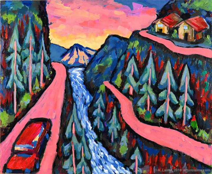 Andean Roads original painting