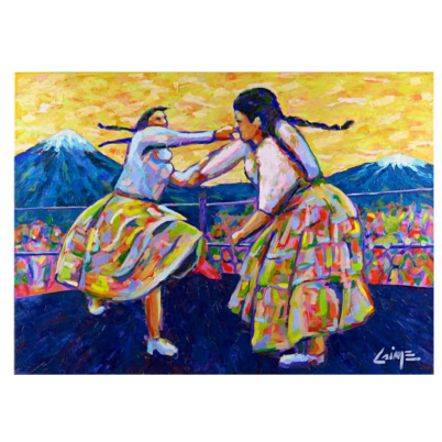 fighting cholitas painting