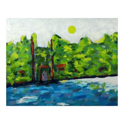The entrance oil painting