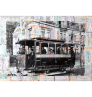 Frankfurter Trambahn mixed media cover