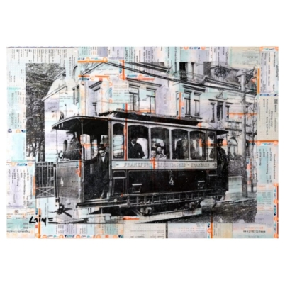 Frankfurter Trambahn #1 mixed media
