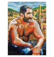 wrestler in hasankeyf painting cover