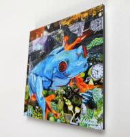 Mini frog artprint 10x10cm
