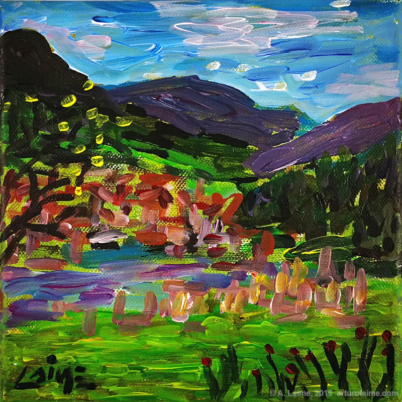 Gernsbach overview acrylic painting
