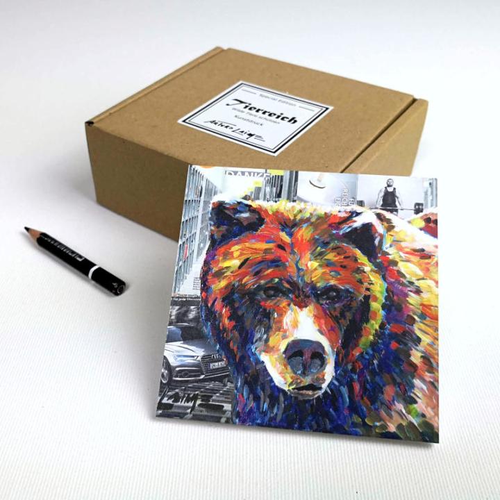 Mini grizzly bear gift box
