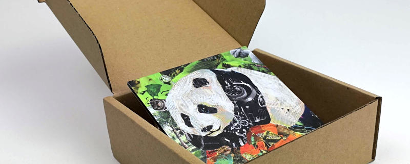 Mini Panda gift box inside