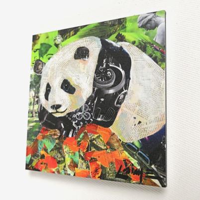 Mini panda art print 10x10 cm