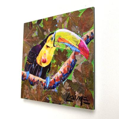 Mini toucan artprint mini 10x10cm