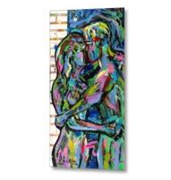 couple of lovers metal print 2-min