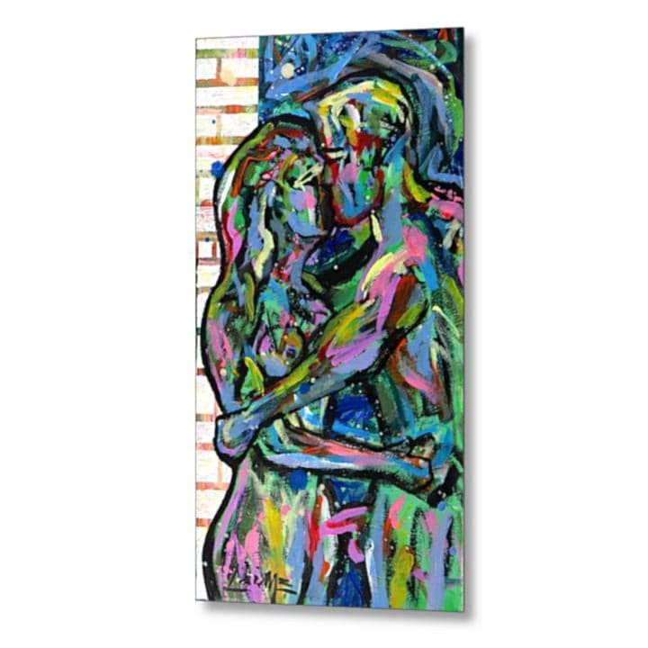 couple of lovers metal print 2-min