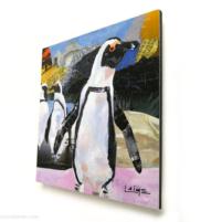 mini african penguins artprint 10x10cm