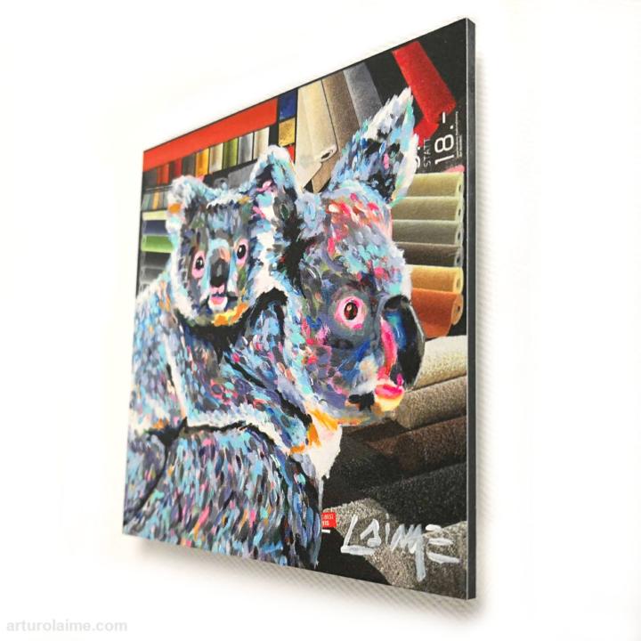 mini koalas artprint 10x10cm