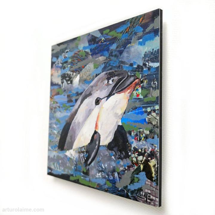 MiniVaquita Delfin mini Print 10 x 10cm