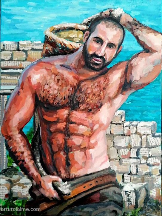 greek porter painting