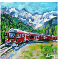 glacier express painting