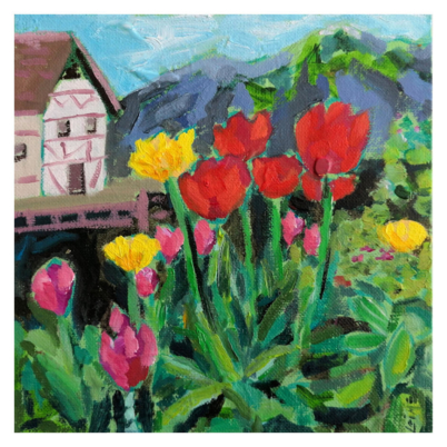 mrs grimm flowers painting