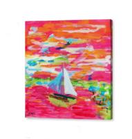 Frankfurter harbour canvas print