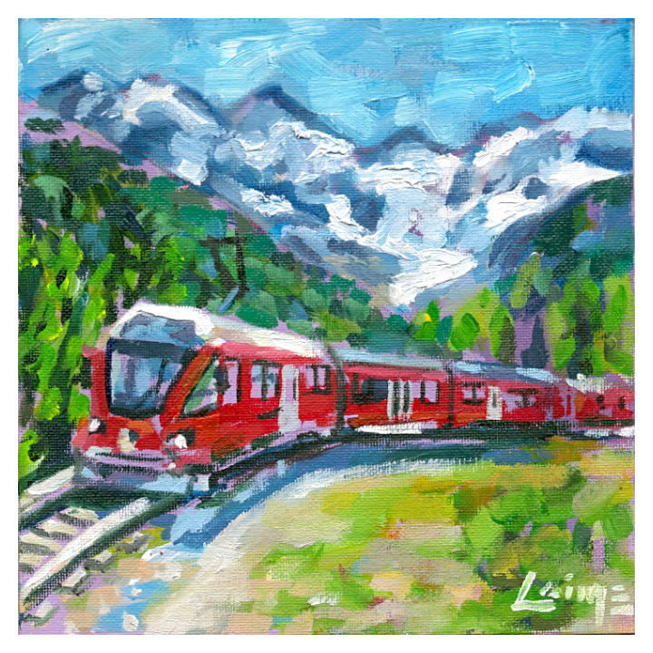 glacier express painting 02
