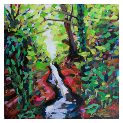 laufbach waterfalls painting