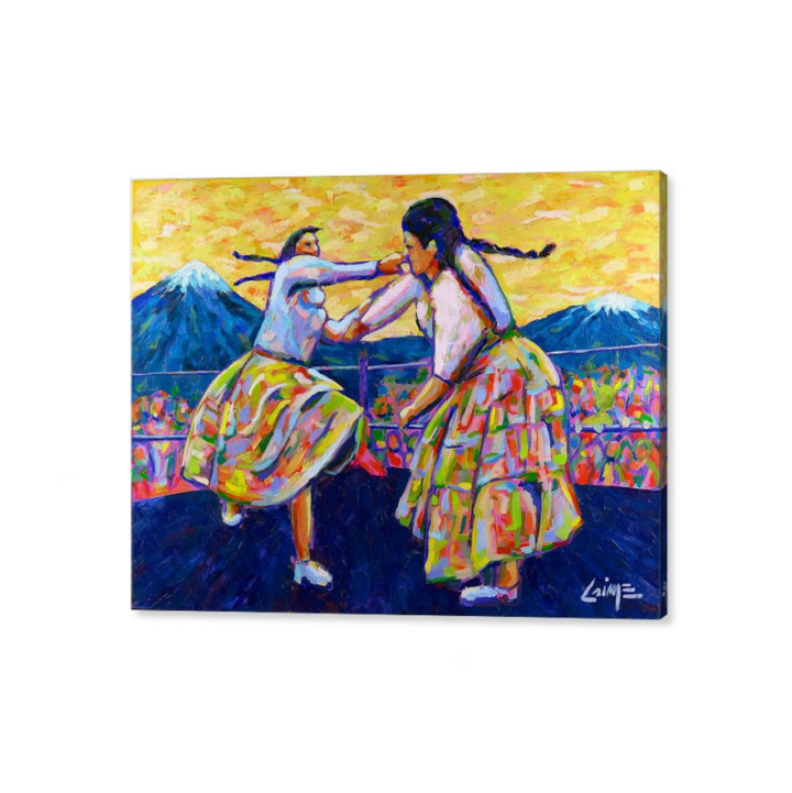 the fighter cholitas canvas print