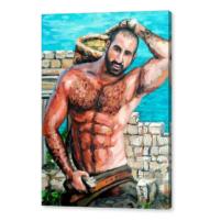 greek porter canvas print prov