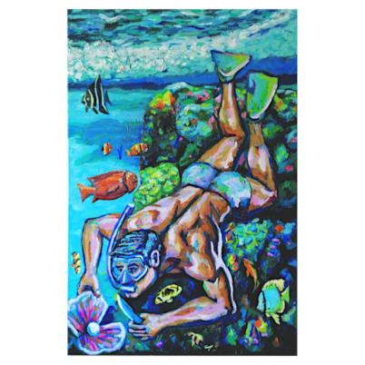 the pearl diver oil on canvas prov720