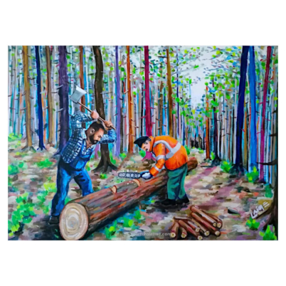 The loggers painting