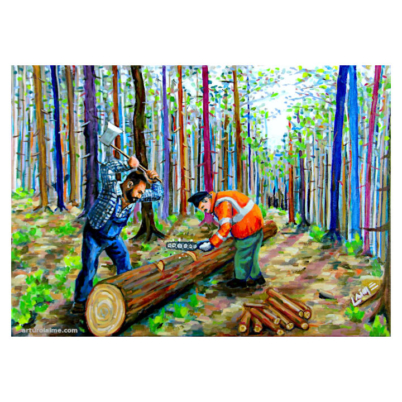 The loggers artwork