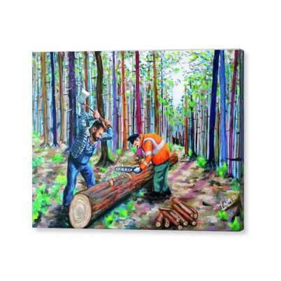 The loggers canvas print