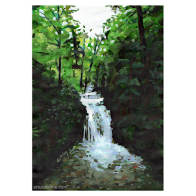 Geroldsauer Wasserfall artwork on paper