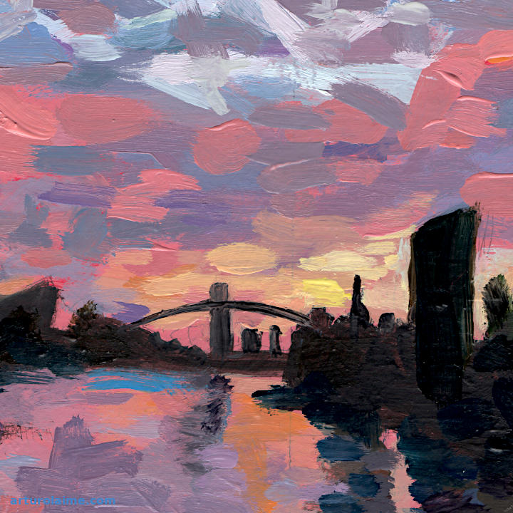 Main River at dusk detail01