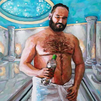 Man in Hammam by Arturo Laime
