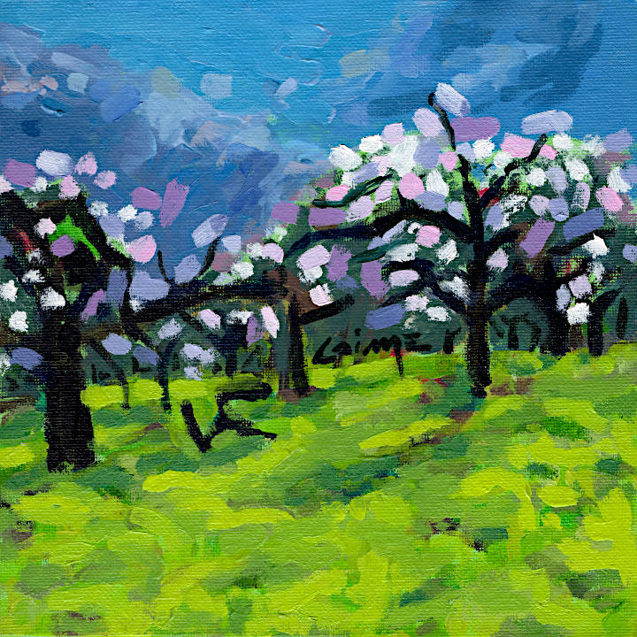 Apple trees blossoming by Arturo Laime
