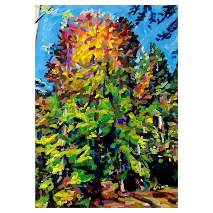 Autumn in Hörden oil painting on canvas