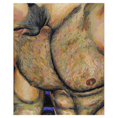 Chest oil painting on canvas